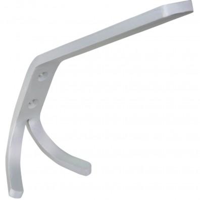 1 HSI Huthaken doppelt Aluminium-Band matt silber 170mm