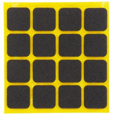 16 HSI Stuhlgleiter, Filz - selbstklebend - braun - 22x22mm