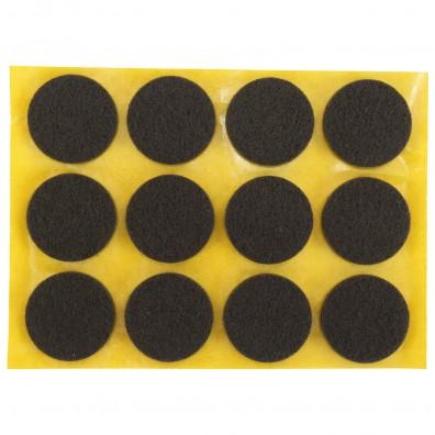12 HSI Stuhlgleiter, Filz - selbstklebend - braun - 25mm