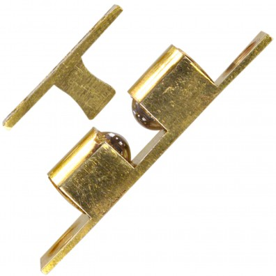 Ideal-Schnäpper mit Stahlkugeln - Messing