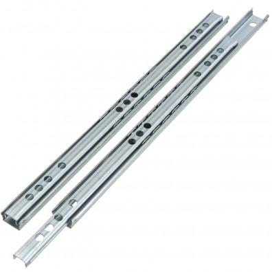 1 Set Schubladenführungen - Kugel-Teilauszug Belastung 8Kg - vernickelt - 245mm