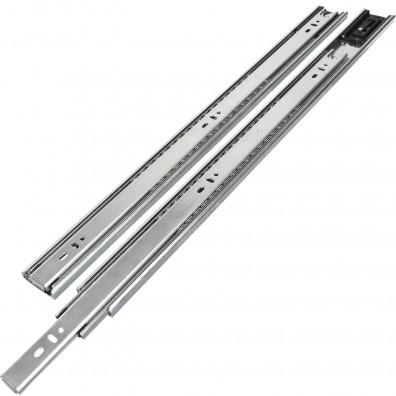 1 HSI Set Schubladenführungen - Kugel-Vollauszug mit Selbsteinzug 40kg - 550mm