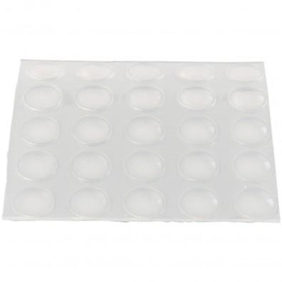 25 HSI Schutzpuffer - selbstklebend gewölbt - Kunststoff - transparent - 8mm