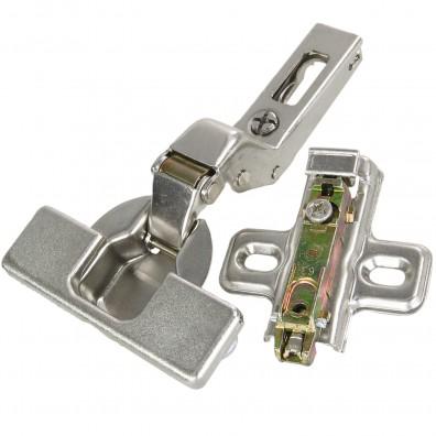 2 Topfbänder - mit Clip und Schnellmontage - für Innentür - vernickelt - 35mm