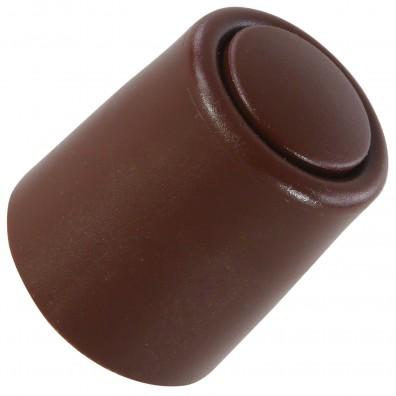 1 HSI Türstopper - festinstalliert - Kunststoff - braun - 27x30mm