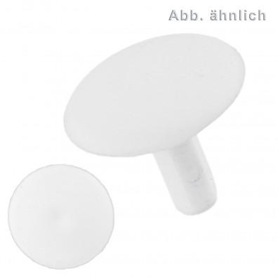 100 FISCHER Abdeckkappen ADF 12 mm - Kunststoff - weiß - für Fensterrahmendübel