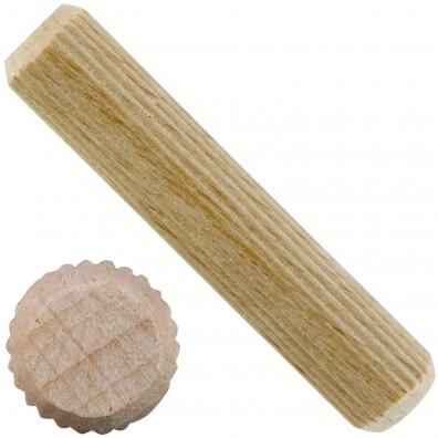 1 kg Buchen-Riffeldübel 12 x 60 mm DIN 68150 Industriequalität  ca. 230 Stück