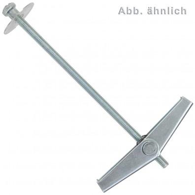 25 FISCHER Federklappdübel KD 4 x 105 mm - verzinkt - Federklapp-Funktion