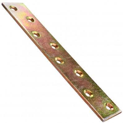 10 Flachverbinder gelb verzinkt 170x30x3
