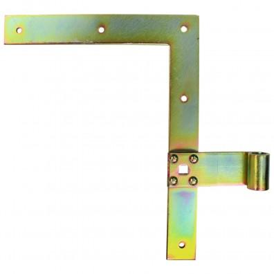 1 Fensterladenband-Winkelband rechts gelb verzinkt 250x30x13