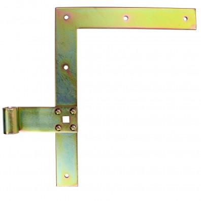 1 Fensterladenband-Winkelband links gelb verzinkt 250x30x13