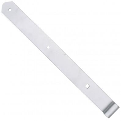 Ladenband - halbschwer - gerade Form - abgerundet - Edelstahl - 13mm Rolle