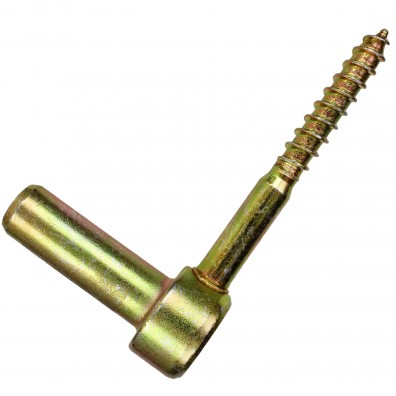1 GAH Schraubkloben - Dorn: 16mm, Länge: 110mm - gelb verzinkt