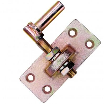 1 GAH Kloben verstellbar um 20 mm gelb verzinkt Dorn 13 mm 105x40 mm
