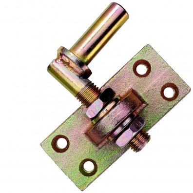 1 GAH Kloben verstellbar um 20 mm gelb verzinkt Dorn 16 mm 105x45 mm