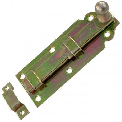 1 GAH Türriegel 120x44x16 mm - gerade - mit Schlaufe - gelb verzinkt