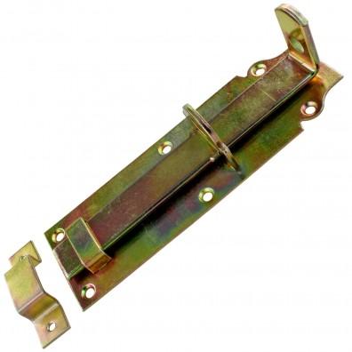 1 GAH Schlossriegel 200x64 mm - gerade Ausführung - gelb verzinkt