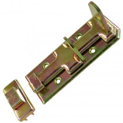 1 GAH Sicherheits-Schlossriegel 120x45x17 mm - mit flachem Griff - gelb verzinkt