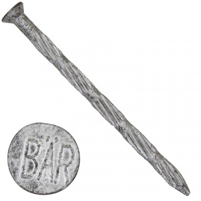250 BÄR Stahlnägel 4,5x70 mm, gehärtet mit Tiefversenkkopf und Längsriffelung