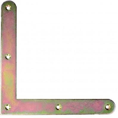 1 Möbel-Flachwinkel / Einlassecke gelb verzinkt 150x150x20x1,8