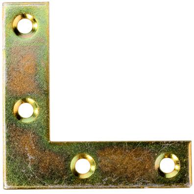 100 Möbel-Flachwinkel gelb verzinkt 40x40x10x1,3