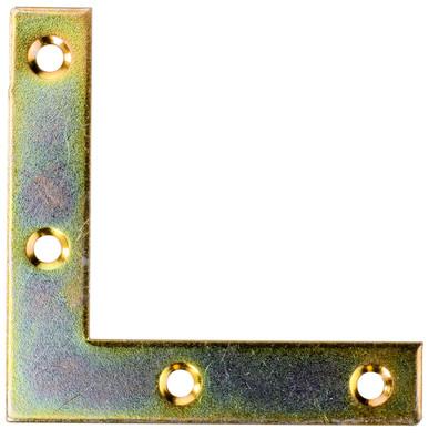50 Möbel-Flachwinkel gelb verzinkt 50x50x10x1,3
