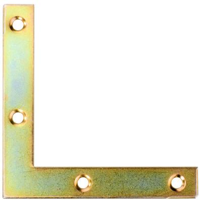 1 Möbel-Flachwinkel gelb verzinkt 75x75x12x1,3