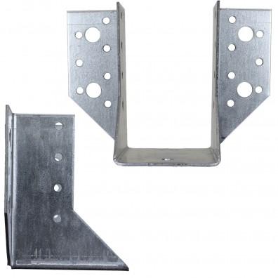 Standard-Balkenschuhe - außen - feuerverzinkt - 2 mm Materialstärke
