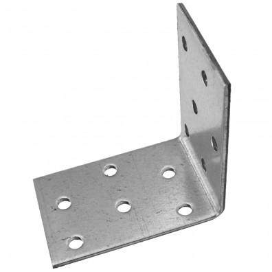 100 Lochplattenwinkel, Winkelverbinder,  sendzimirverzinkt 60x60x40x2,5 mm ETA
