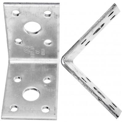 20  Winkelverbinder 50x50x35 , Dicke 2,5 mm, verzinkt, ohne Steg / Rippe
