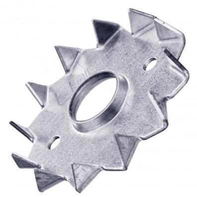 10 Einpressdübel DIN 1052 1-seitig verzinkt 48 mm Durchmesser