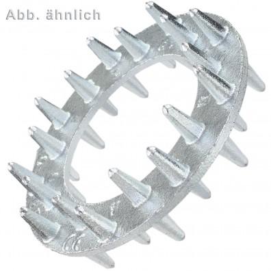 25 Einpressdübel für M24 - zweiseitig - 95 mm Durchmesser - verzinkt