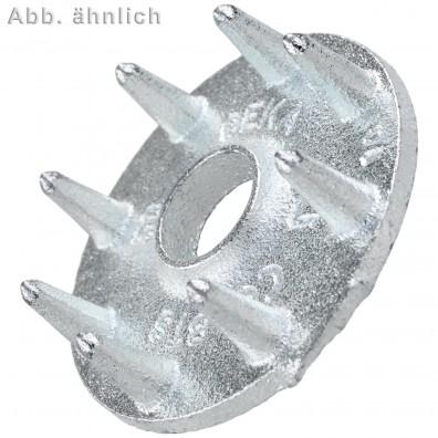 50 Einpressdübel für M12 - einseitig - 50 mm Durchmesser - verzinkt