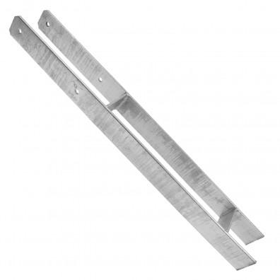 Premium H-Pfostenträger - GAH - feuerverzinkt - 6 mm stark - 800mm lang
