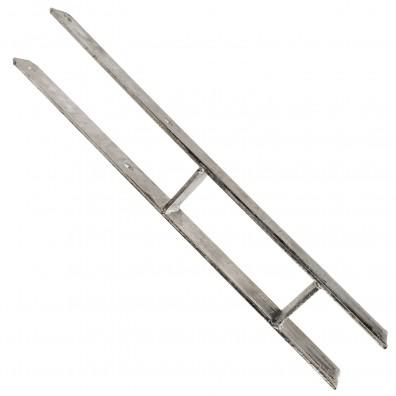 1 GAH H-Pfostenträger feuerverzinkt 5-600 für 80 mm Pfosten