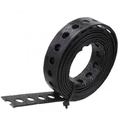 Lochband verzinkt schwarz kunststoffbeschichtet