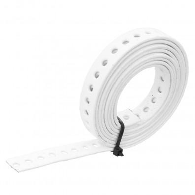 Lochband verzinkt weiß kunststoffbeschichtet