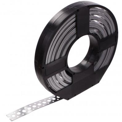 1 Lochband in Kunststoff Abrollbox verzinkt 25x0,75 á 25m