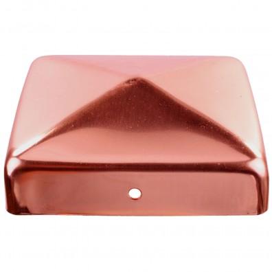 1 GAH Pfostenkappe flach Kupfer zaponiert 91x91 mm