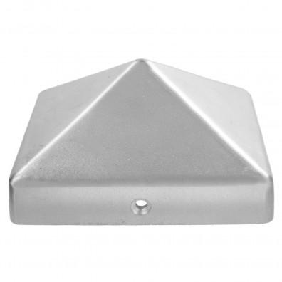 10 GAH Pfostenkappen hohe Form Aluminiumguss blank 111x111 mm