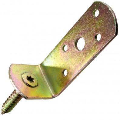 50 GAH Flechtzaunhalter - 115x31,5x30x75 mm - L-Form - gelb verzinkt