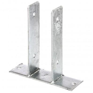 1 GAH U-Pfostenträger aufdübelbar Stahl feuerverzinkt, 4x50-60 mm für 70 mm