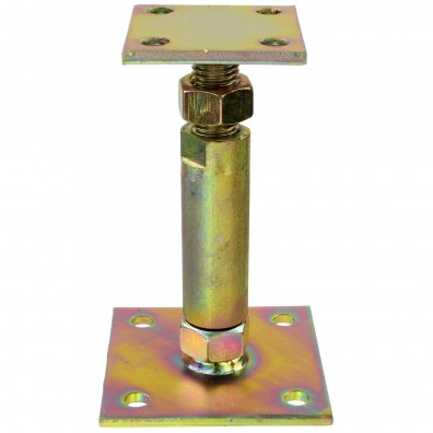 1 GAH Pfostenträger 2 Platten gelb verzinkt aufdübelbar höhenverstellbar >=70 mm