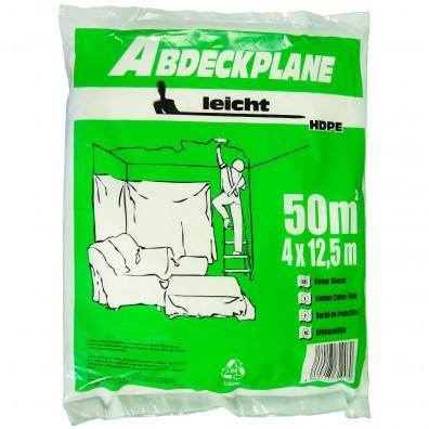 1 Abdeckplane, 4x12,5m , HDPE transparent , 7my  -leicht-