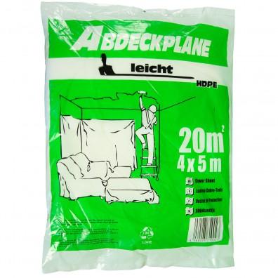 1 Abdeckplane, 4x5m , HDPE transparent , 7my  -leicht-