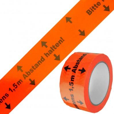 1 Rolle Gerband 404 Klebeband, Warnband, orange, Abstand 1,50 Meter, 50 mm, 66 m