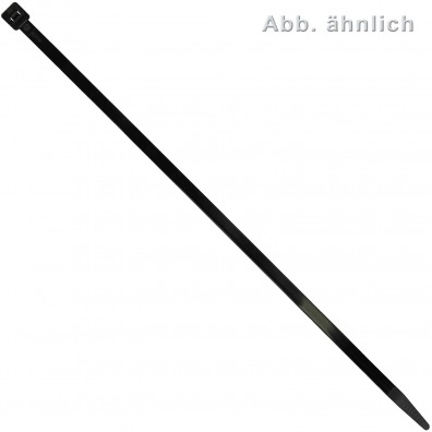 100 Kabelbinder Nylon schwarz 4,8x250mm