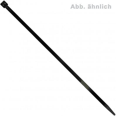 100 Kabelbinder Nylon schwarz 4,8 x 300 mm