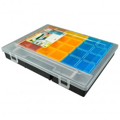 1 Allit Sortimentskasten - EuroPlus Flex 37-15 - 14 Einsatzboxen - 370x295x55 mm