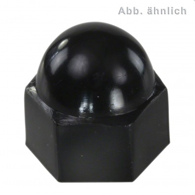 50 KORREX-Schutzkappen für M16 Sechskantmuttern - Kunststoff - schwarz